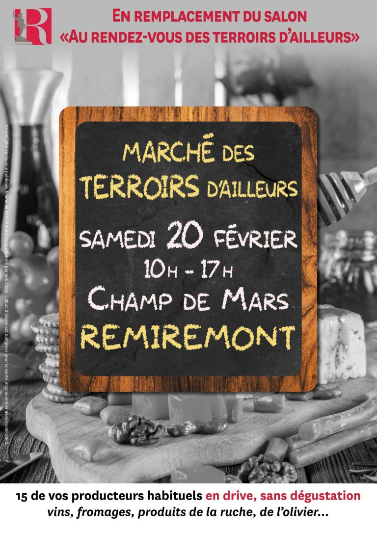 Ville De Remiremont Temporaires Affiche Marché